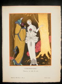 Gazette du Bon Ton by Georges Barbier 1914 Art Deco Pochoir. Coromandel